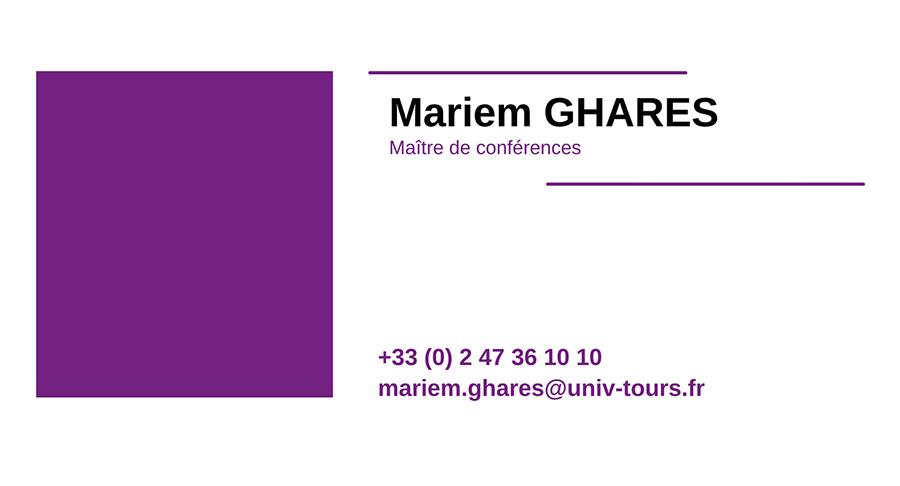 cv MARIEM-GHARES